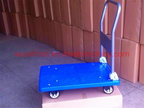 Foldable Four Wheel Mute Plastic Platform Trolley 300kg Capacity