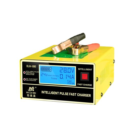 Intelligent AC to DC 12 V/24 V 0-15A Automatic Battery Charger with Repair Function