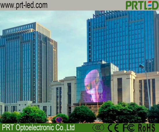 Outdoor P7.81 Transparent LED Display Screen for Building Wall Facade pictures & photos