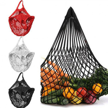 Wholesale High Quality Eco Friendly Custom Colors Recyclable Reusable Portable 100% Organic Cotton Mesh Produce Bag
