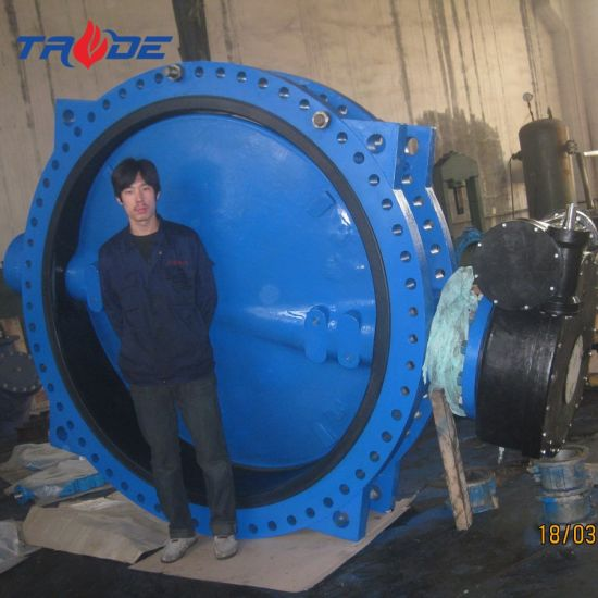 Dn1200 -Dn3600 Big Size Vulcanized Seated Double Flange Wafer Centric Butterfly Valve