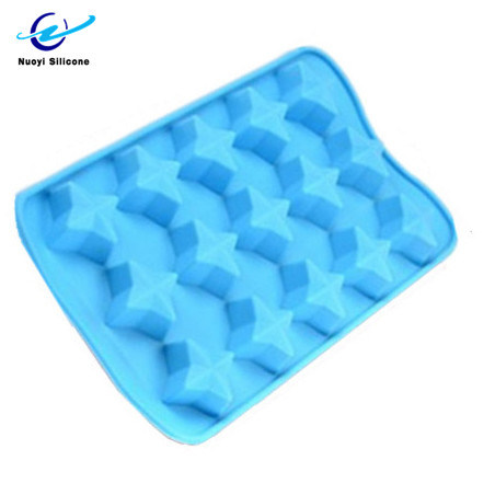 Four-Pointed Star Shape Food Grade Ice Maker Silicone Ice Mold