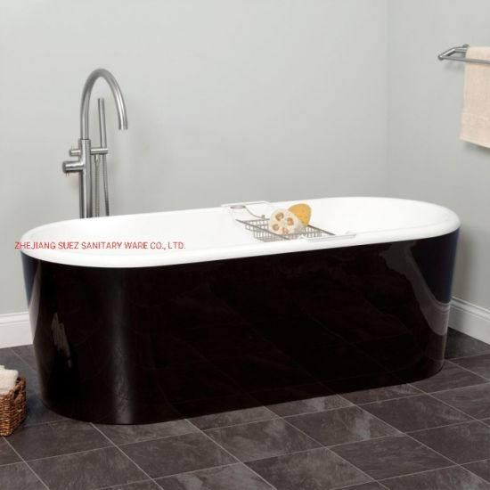 Black Color Acrylic Bathtub for Bathroom Shower