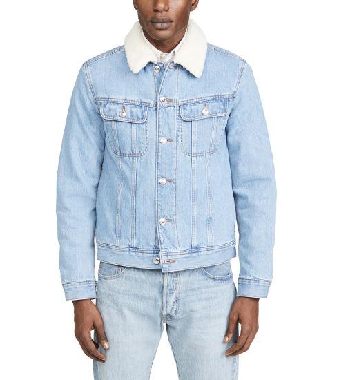 Wholesale Custom Denim Jeans Jackets Winter Warm Jeans Velvet Thick Jackets 100%Cotton