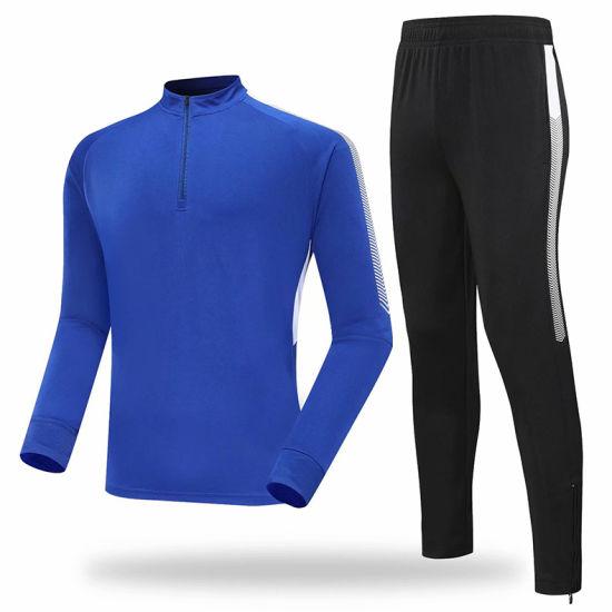 Football Clothing Tech Fleece Velvet Sports Clothes Velour Apparel Custom Garment Ladies/Women/Mens Soccer Tracksuit Sports Wear