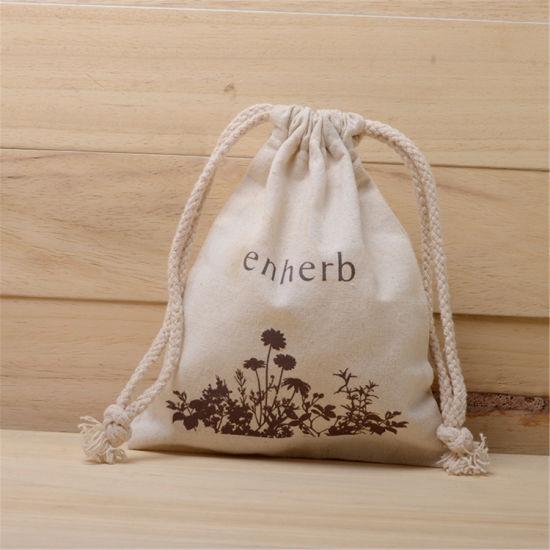 Promotion Custom Wholesale Drawstring Lady Handbags Gift Tote Shopping Cotton Bag