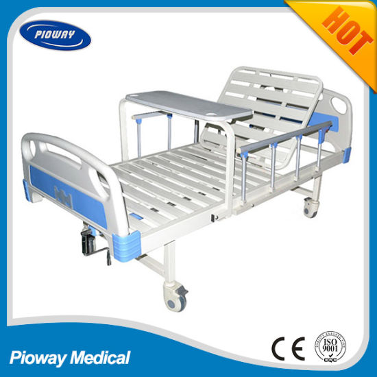 One Crank ABS, Aluminium Alloy/Guardrail/Castor/Dinner Table Guardrail Hospital Bed (PW-C02)