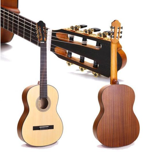 China Guitar Factory 36 Inch Travel Acoustic Guitar High Gloss Solid Manhogany Wood Acoustic Guitar
