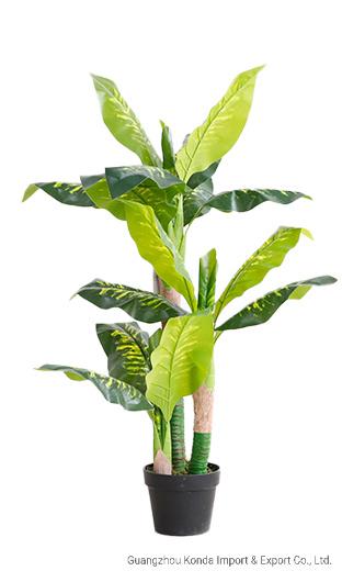 Indoor Decoration Green Artificial Plant Rohdea in a Pot