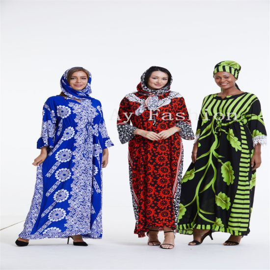 China Wholesale Latest African Kitenge Kaftan Abaya Designs Dress For Women China Dresses And New Design Dress Price