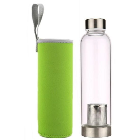 High Quality Private Label Stainless Steel Water Bottle with Tea Infuser Filter BPA Free Glitter Tea Tumbler