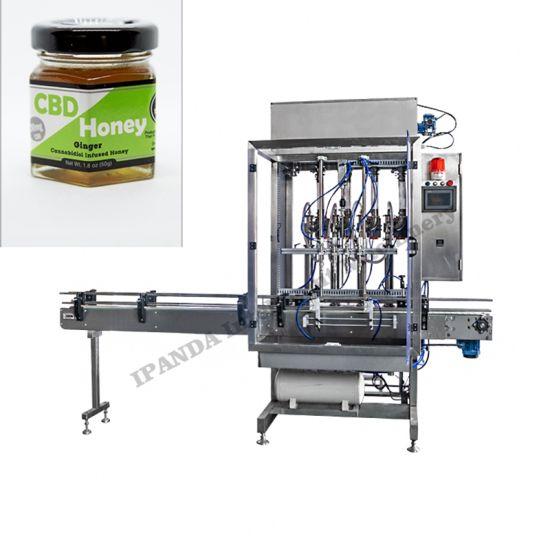 Fresh Honey Glass Jar Fruit Jam Sauce Paste Filling Capping Machine