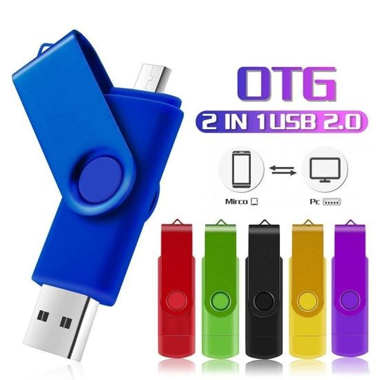 Hot Sale 2 in 1 Multifunctional Pendrive OTG for Android PC