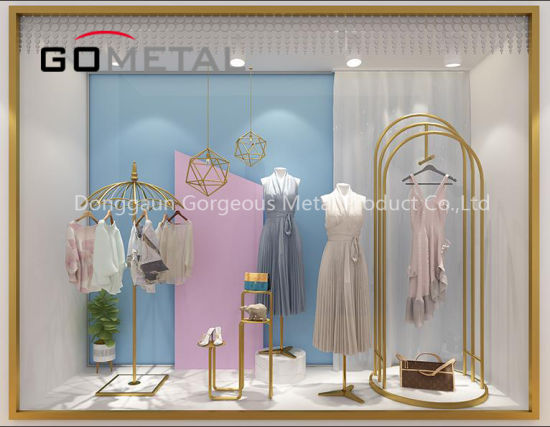 Clothing Shop Metal Clothes Window Display Exhibition Equipment Rack