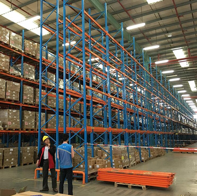 Paper Packaging Industry Q235 Steel Double Deep Pallet Racks pictures & photos