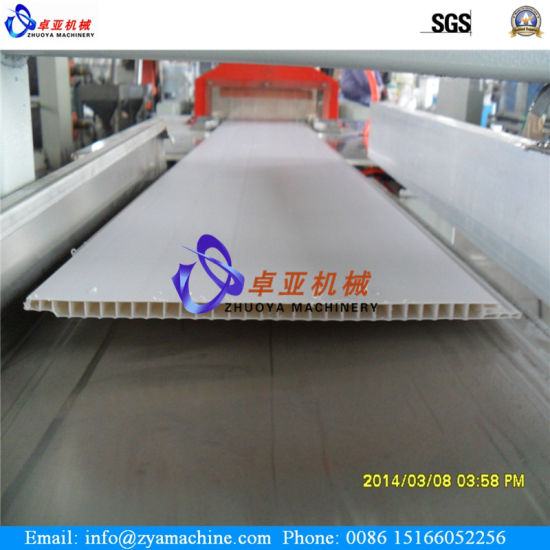 PVC Ceiling/Wall Profile Panel Extrusion Machine pictures & photos