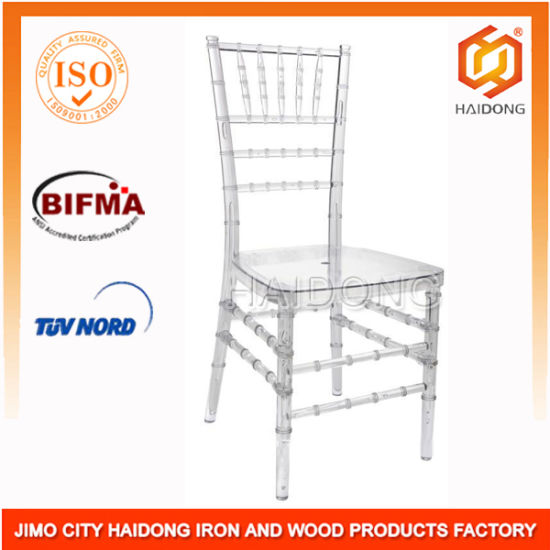 Clear Polycarbonate Resin Chiavari Chair for Banquet  sc 1 st  Jimo City Haidong Iron and Wood Products Factory & China Clear Polycarbonate Resin Chiavari Chair for Banquet - China ...