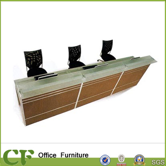 Modern Customized Office Desk Tall Wooden Reception