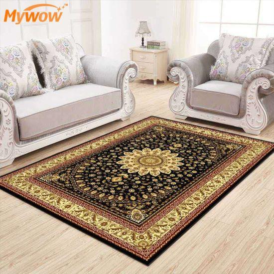 Embroidered Technic Non-Slip Home Decorative Modern Living Room Rug Floor Carpet Mat