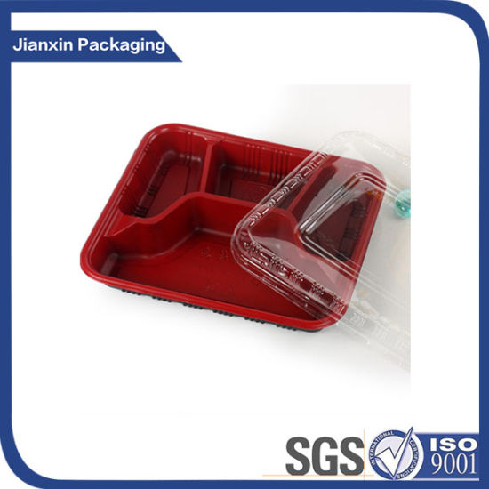 4 Compartment High Quality Cheap PP Plastic Lunch Box pictures & photos