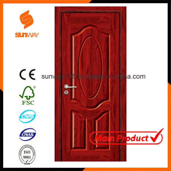 Customized Size Hotel Rooms MDF Melamine Wooden Door pictures & photos