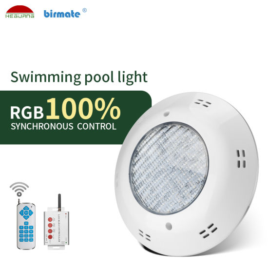 IP68 Waterproof 18W SMD RGB LED 12V 100% Synchronous Controller Fiberglass Surface Mounted Pool Light