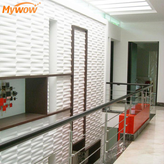 Rich Color Waterproof PVC Art 3D Wall Panel