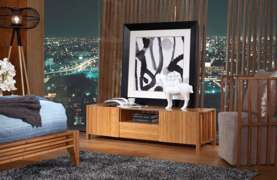 Modern Bamboo Tv Cabinet Stand Table
