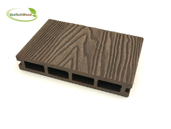 Popular 3D Wood Grain WPC Wood Plastic Composite Decking