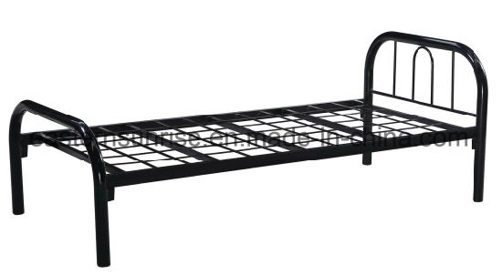 High Quality Bedroom Furniture Single Metal Iron Steel Bed pictures & photos