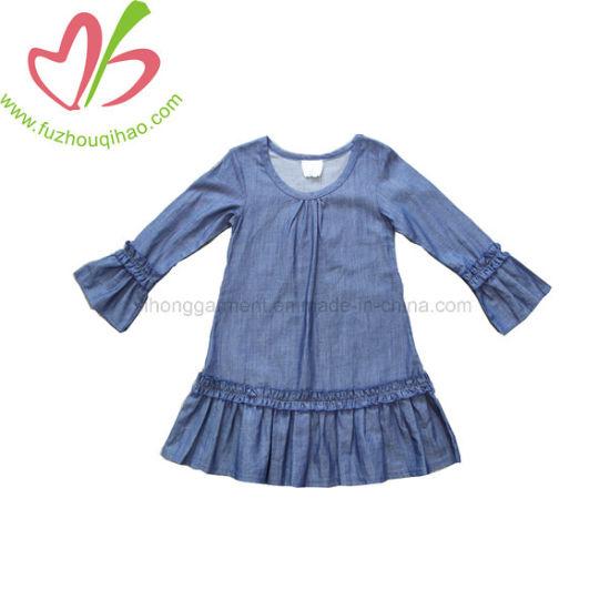 34474f9c1cc6 China Spring Autumn Stylish Long Sleeve Baby Girl Denim Tops - China ...