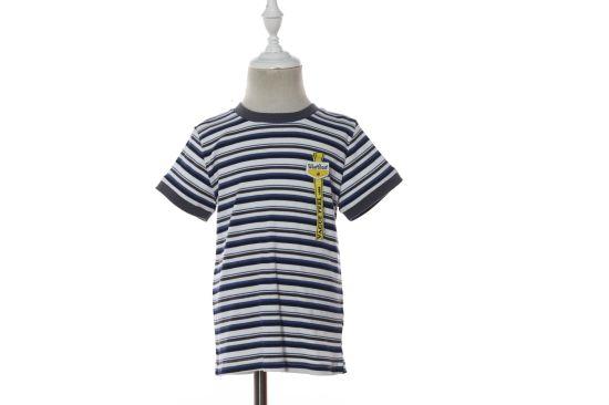 Short Sleeve Stripes Boy Summer Cotton T Shirt Soft Clothes