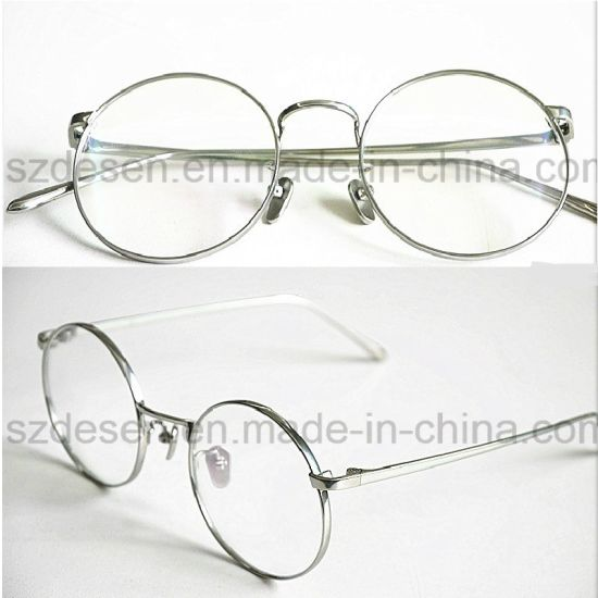 China Customized Antique Full Rim Beta Titanium Optical Eyeglasses ...