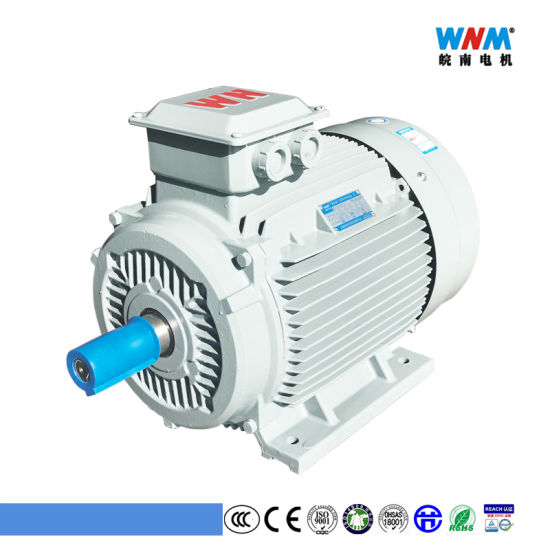 High Efficiency Ie2 Yx3 Frame 80/90/100 Three Phase AC Electric Motor 1.1kw 1.5HP for Pump Air Compressor Gear Box Reducers Fan Blower Mixer From Wnm Motor