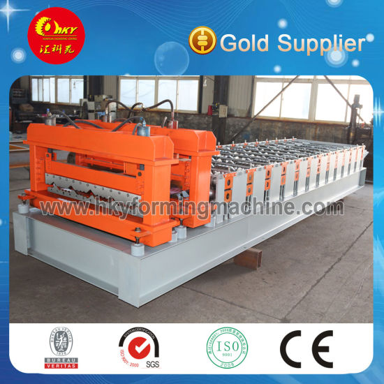 New Design Jch Glazed Corrugated Metal Sheets Roof Roll Forming Machines with Ce Certificate