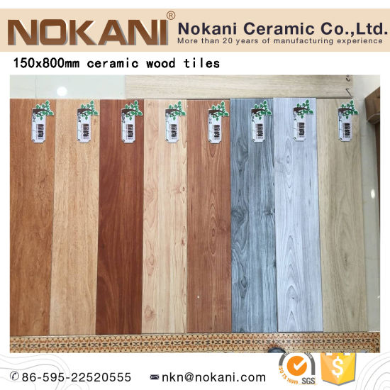 China 6x32 Wood Grain Ceramic Floor Tile Texture Wooden Tile China