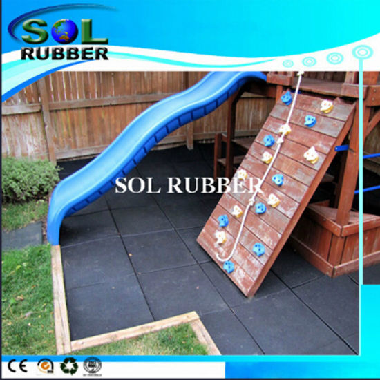 High quality Outdoor Playground Rubber Tile pictures & photos