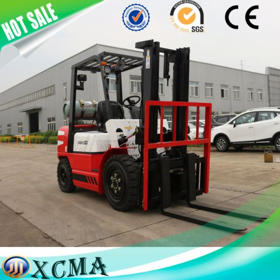 3ton 3000kg Gas/LPG Forklift Truck with Nissan Engine