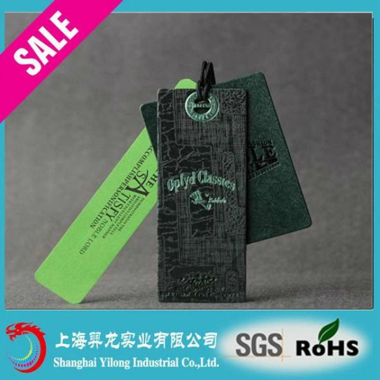 Hot Sale Fashion New Design Paper Hang Tag for Garment