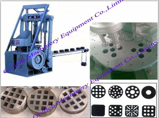 Verticlal China Charcoal Coal Honeycomb Briquette Pressing Machine pictures & photos