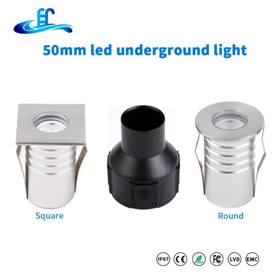 AC85-265V 1W Mini Square Floor Outdoor Inground Lighting