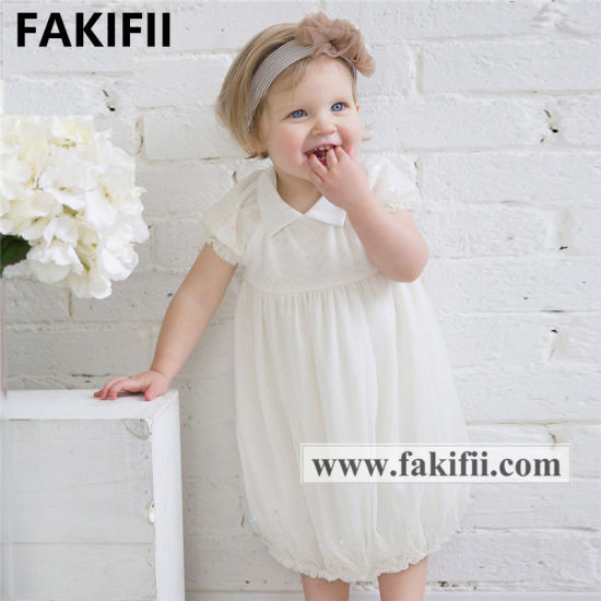 2021 Summer Brand Baby Kids Dress Lace Flower Girl Dress Christening Dress
