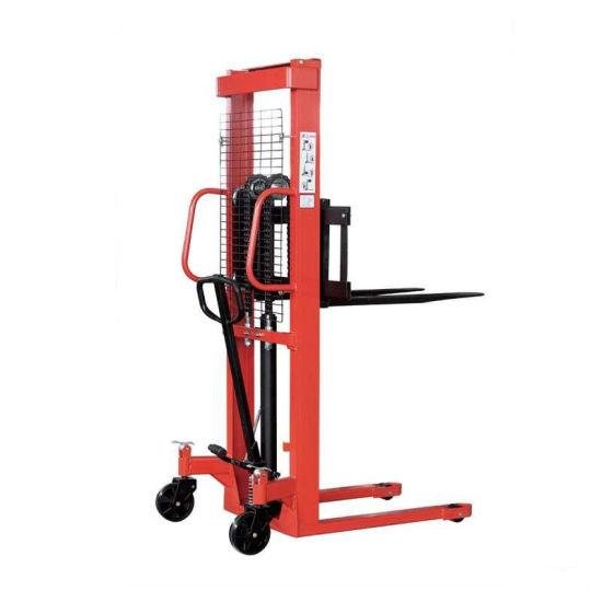 Hydraulic Hand Lift Truck Stacker Hydraulic Forklift Hand Manual Stacker