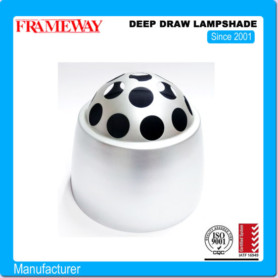 Diameter 300mm Half Round Painting Silver Lampcover Colorful Metal Spinning Deep Draw Stage Lampshade Powder Coating