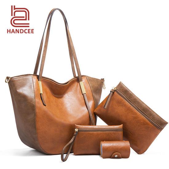Fashion Wholesale Market Lady Luxury Women Ladies Handbag Set Designer Brand PU Leather Crossbody Channel Shoulder Woman Female Purse Tote Factory Bucket Bag
