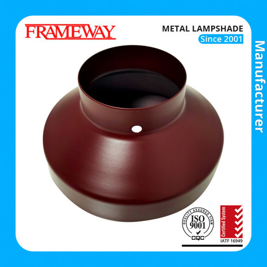 Lighting Component Metal Lampshade Brown Painted Steel Sheet Deep Drawing Fabrication