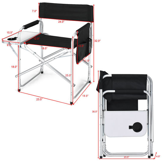 New Design Outdoor Cheap Folding Camping Aluminium Lightweight Aldi Director Chair