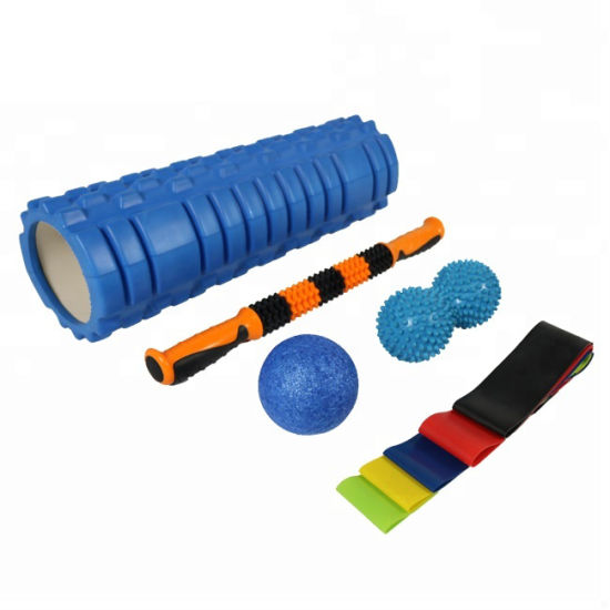 Wholesale Lowest Price Gym Use Exercise Muscle Massage Foam Roller Set Pull up Assist Band Fitness Strength Band Power Resistance Bands