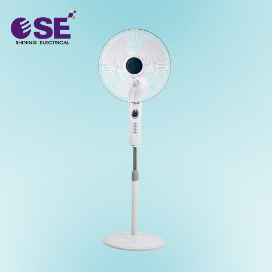 White Electrical Floor 16 Inch Stand Fan