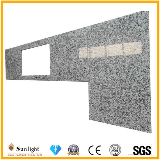 Factory Custom Bala Flower White Granite Stone Island Work Tops Countertop